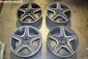 18 Mercedes Benz C63 Amg Oem Factory Genuine Staggered Wheels C250 C300