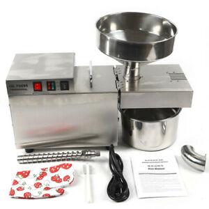 Oil Press Machine Auto Oil Extraction Extractor Stainless Steel Expeller 1500w