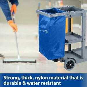 Janitorial Cart Replacement Commercial Cleaning Cart Bag Blue pack Of 1