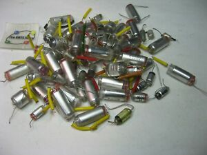 Polystyrene Capacitor Assorted Values And Voltages Grab bag Lot Used Pulls