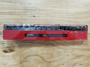 New Mac Tools 17pc 3 8 Drive Metric Deep extra Deep Impact Socket Set
