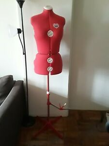 Singer 151 Adjustable Dress Form Mannequin Medium large Red