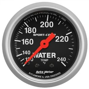 Auto Meter 3332 2 1 16 Sport comp Mechanical Water Temperature Gauge New