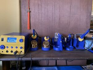 Complete Hakko Micro Soldering And Rework Station w Extras