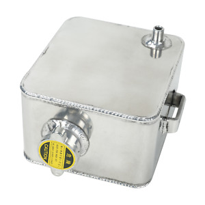 2 5l Aluminum Coolant Expansion Overflow Recovery Water Tank W Cap Universal