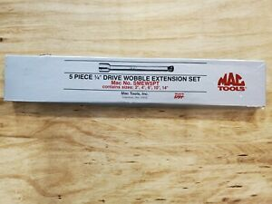 New Mac Tools 5pc 1 4 Drive Wobble Extension Set