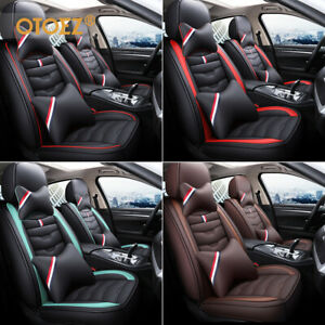 Otoez Luxury Leather Car Seat Covers Full Set Universal Adjustable Bench Cover