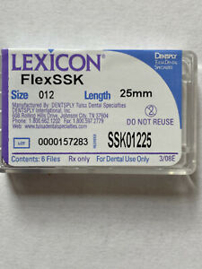 Dentsply Lexicon Flexssk Files Size 12 Length 25mm 5 Packs