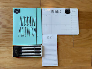 Rae Dunn Bundle 2021 17 Month Planner Pen Set Weekly Desk Pad To Do Note Pad