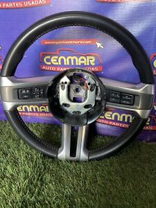 2013 2014 Ford Mustang Gt Oem Black Leather Steering Wheel Assembly Audio Radio