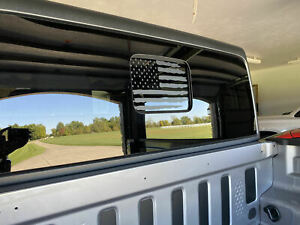 For Jeep Gladiator Distressed American Usa Flag Decal Fits Rear Sliding Window
