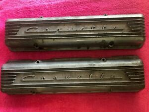 Early Corvette Valve Covers Staggared Bolt