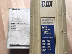 Caterpillar D6r Track Type Tractor Factory Service Parts Manual Oem