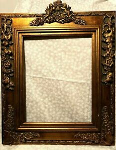 Antique Reproduction Gold Gilt Vintage Picture Frame Opening 16x20