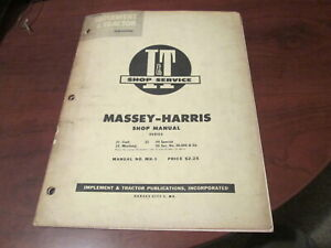 1955 Massey Harris I t Tractor Shop Manual Mh 5 21 Colt 23 Mustang 33 44 Sp 55