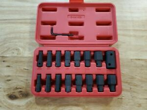 New Mac Tools 15pc 1 2 Drive Sae And Metric Impact Hex Insert And Driver Set
