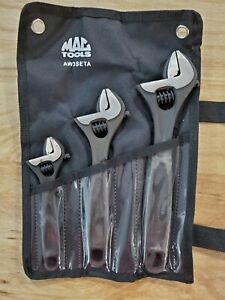 New Mac Tools 3pc Adjustable Wrench Set