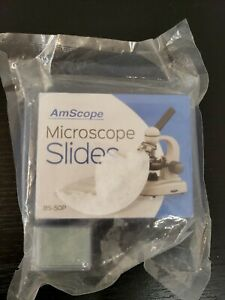 Amscope 50 Pre cleaned Blank Microscope Slides 100 22x22mm Square Cover Glass