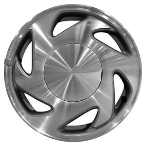 69373 Used 15x6 5 Alloy Wheel Rim Medium Charcoal Textured And Machined