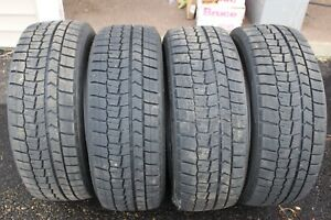 205 50r17 Dunlop Winter Maxx Snow Tires 93t Slightly Used Set Of 4