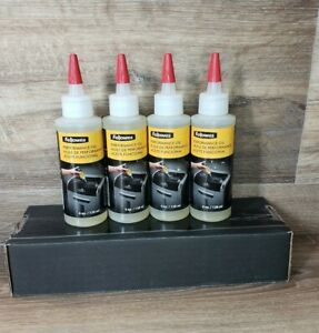 Fellowes Performance Oil Shredder Lubricant For Micro Cut And Cross Cut 4 Count