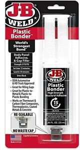 J b Weld 50139 Plastic Bonder Body Panel Adhesive And Gap Filler Black 0 85oz