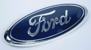 Blue Chrome 2005 2014 Ford F150 Front Grille Tailgate 9 Inch Oval Emblem 1pcs