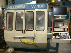 Willemin W 138 Cnc Milling Machine Multi Axis Tooling Very Gd Cond