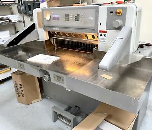 1999 Polar 78es Programmable Paper Cutter 30 Inch Air Saber Challenge Perfecta