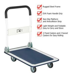 Practical Platform Cart Dolly Folding Foldable Push Hand Truck 330lbs Max Load