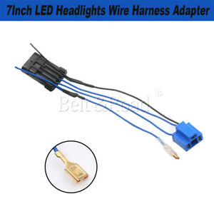 1pc 7inch Led Headlight Wire Harness Wiring Connector Socket Adapter For Harley