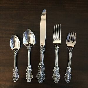 Vintage Reed And Barton Silverplate King Francis 5 Piece Place Setting