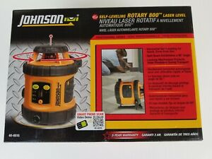 Johnson 40 6515 Self leveling Rotary 800 Laser Level new In Box