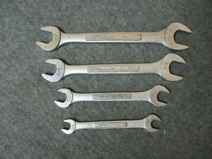 4 Craftsman Double Open End Wrench Lot Sae Vv V Series Usa
