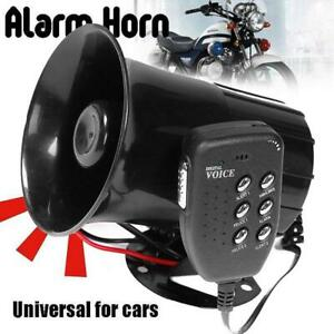 100w Car Warning Alarm 6 Sound Loud Police Fire Siren Horn Pa Speaker Mic System