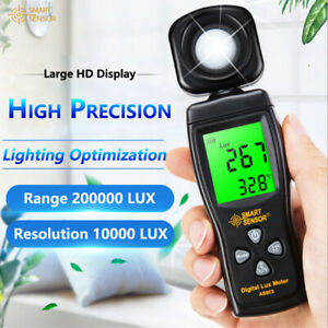 Digital Lux Luminometer Meter Photometer Luxmeter Light Meter 0 200000 Lux As803