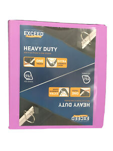 1 5 Inch Heavy Duty Exceed 3 Ring School Office Binder Purple Holds 400 Sheets