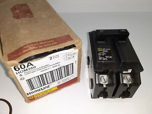 Square D Hom260 2 Pole 60 Amp 120 240 Volt 10ka Circuit Breaker Type Hom New