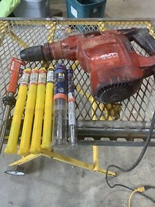 Hilti Te 76p atc Hammer Drill Chipping Hammer With Bits Two Speed Sds Max Works