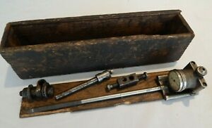 L s Starrett No 452 B Improved Cylinder Gage W Wooden Box Antique Model T Ford