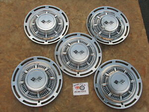 1959 Chevy Impala Nomad 14 Wheel Covers Hubcaps Lot Of 5
