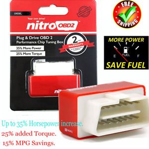 Fuel Saver Red High Performance Chip Tuning Box Diesel Vehicle Fuel Saving