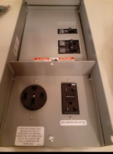 Underground Temporary Power Panel Receptacles Overhead Home Electrical 125a Gfci
