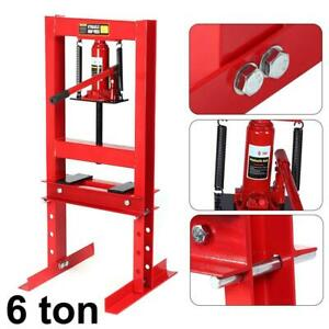 Hydraulic Shop Press Floor Shop Equipment 6 Ton 13227 7ib Stand H Frame Red