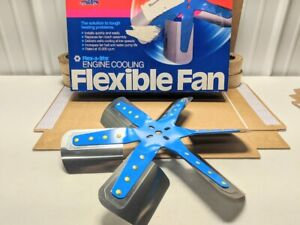 Flex A Lite 1317 Blue Star Stainless Steel 6 Blade 17 Flex Fan Chevy Ford Mopar