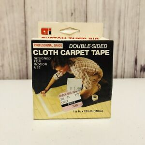 Cti Double Sided Cloth Carpet Rug Tape 1 1 2 X 12 5 Indoor
