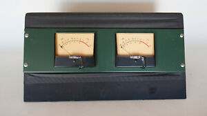 Vintage 4 5 Inch Vu Audio Meters With Housing really Cool