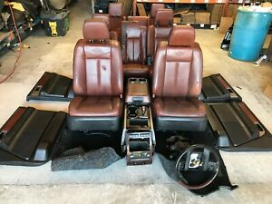 09 14 Ford Expedition King Ranch Complete Interior Front 2nd 3rd Seat Cosnole