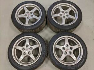 1997 2004 Corvette C5 Wheels Magnesium Rims Set 17 18 Staggared Nice W Tires