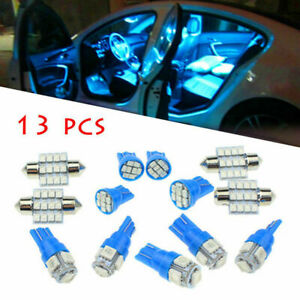 13 X Auto Car Interior Led Lights Dome License Plate Lamp Kit Accessories 8000k